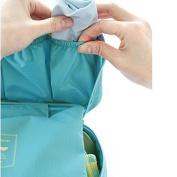 Foldable Makeup Zipper Bag Gargle Storage Hand Bag Underwear Bra Pouch Light Blue