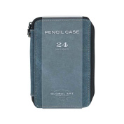 Canvas Artists' Pencil and Brush Cases - 24 Case Steel Blue