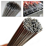 50pcs 35cm Stainless Steel BBQ Skewers Barbecue Skewers for Outdoor Camping Picnic Tools