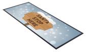 Christmas Bar Towel Runner Pub Party Mat Beer Gift Party Santa Stop Here Design