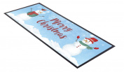 Christmas Bar Towel Runner Pub Party Mat Beer Gift Party Happy Snowman Scene