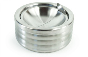 Ash Tray Stainless Steel with Double Flap, 1 item