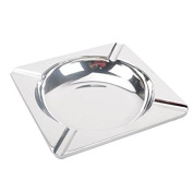 GOUQIN Ashtray Thick Drum-Shaped Stainless Steel Ashtray for Drawing Bar Household items