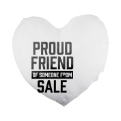 Proud friend of someone from Salé Heart Shaped Pillow Cover