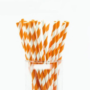 HLHN Wave Printing Drink Paper Straws Decorative Drinking Birthday Party Theme Festivals 25PCS