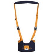 Toddler Safety Walking Reins Harness Belt Adjustable Strap Little Bear Walk Assistant Blue