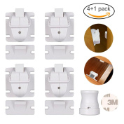 Baby Safety Magnetic Cabinet Locks, Child Proof Drawer Locks with 3M Adhesive Tape, No Tools or Screws Needed