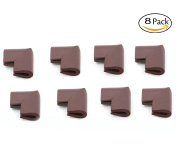 Fairy Baby Soft Safety Corner Guards Foam Table Cushion Protector 8-Packs,Brown