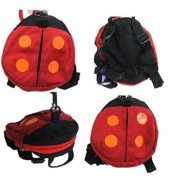 ZHJZ Baby Toddler Safety Harness Reins Backpack Red Ladybug