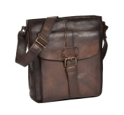 Mens Vintage Small Shoulder Bag Cross Body Pouch HOL3799 Brown