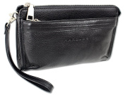 Wallet Mens Leather Business Style Clutch Bag with Wrist Strap Harold´s