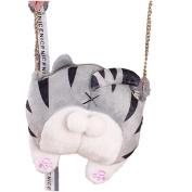 Crossbody Bag,TUDUZ Cute Cat Butt Tail Plush Handbag Crossbody Bag Shoulder Bags Purse Travel Bag
