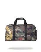 "Sprayground ""Gold Stencil Shark Camo Duffle"" Bag"