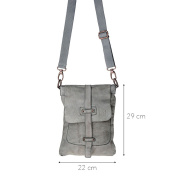 DuDu Men's Shoulder Bag Grey grey One Size
