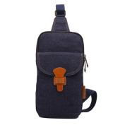 Denim Chest Bag Fashion Travel Bag Male Bag,DarkBlue