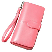 Jiaqing Lady Wallet Wallet Soft PU large Capacity Cross Section Hand Bag