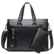 Male Bag Handbag Cross Section Official Leather Bag Business Leisure Shoulder Messenger Bag