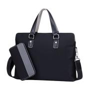 Male Bag Oxford Spinning Handbag Cross Section Leisure Business Briefcase Shoulder Bag Canvas Diagonal Package