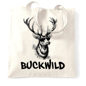 Buckwild Reindeer Shopping Tote Bag Cool Birthday Gift Present