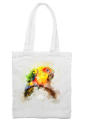 Parrot Bird Drawing Shoulder Shopping Tote Bag