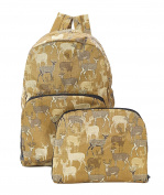 Deer/stag print Expandable Backpack/Rucksack holds 20kg max 6mth guarantee - Ginger