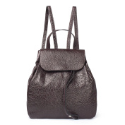 TJ Collection Women's Cracked-Leather Backpack