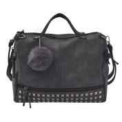 Womens Shoulder Bags, SHOBDW Women Fashion Rivet Ball Casual Handbag Large Tote Satchel Travel Sexy Bag