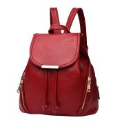 BIUBIUboom School Leather Backpack Shoulder Bag Mini Backpack for Women Girls