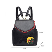 Women's Ladies Girls Backpack Shoulder Bag Female Korean Version 2017 New Small Backpack College Style Fashion Rivet Double Shoulder Mini Backpack,Colour:Black,Size:22*13*23Cm