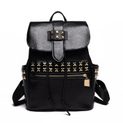 Woman New Backpack Classic PU fashion Cool Punk Rivets Backpacks School Bags Handsome Bag