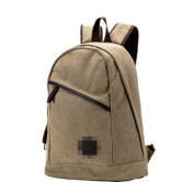 Leisure Canvas Travel Bags Fashion Student Bags Outdoor Backpack,Brown