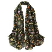 Merry Christmas, Toamen Women Christmas Deer Printing Scarf, Long Soft Wrap Shawl Pashmina Scarves, 180*85CM