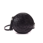 Mefly New Fashion Black Rivet Single Shoulder Soft Face Leather