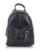 Laura Moretti - Metallic leather backpack bag