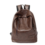 Casual Simple Student Bags Computer Bags Fashion PUleather Personality Outdoor Backpack,Brown