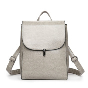 Woman New Style Backpack Fashion College Style Simplicity PU temperament Large Capacity Bag
