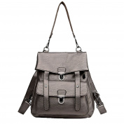 Women Backpack Purse PU Washed Leather Ladies Rucksack Shoulder Bag