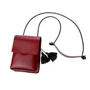 HCFKJ Women's Fashion Simple Tassel Crossbody Shoulder Bags Small Phone Bags