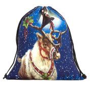 WINWINTOM Christmas Candy Gift Bag Bundle Pocket Santa Claus Snowman Printed Bags