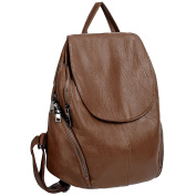 UTO Women Backpack Vegan Friendly Washed Leather Large Ladies Casual Daily Rucksack Shoulder Bag