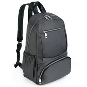 UTO Fashion Backpack Waterproof Nylon Rucksack 34cm Laptop Bookbag Shoulder Purse Grey