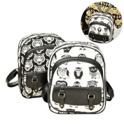 espeedy Fashion Women Backpack Leather Owl Tiger Printed Zip Bag For Ladies