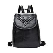 Leather Korean Version Of Shoulder Bag Rivets Soft Students Bag Shoulder Bag