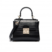 Sheli Small Top Handle Purse Vintage Cross Body Bag for Women Adjustable Strap Gold Metal 20cm