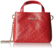 Love Moschino Borsa Embossed Pu Rosso, Women's Baguette, Rot (Red), 15x19x7 cm