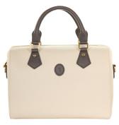 Tru Trussardi Women's Bowling Bag BOTTALATO Bowling Bag White Avorio-Denim