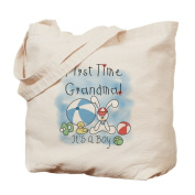 CafePress - Grandma Baby Boy - Natural Canvas Tote Bag, Cloth Shopping Bag