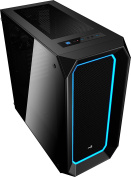 AeroCool P7-C0 Dual Tempered Glass Window Mid Tower case with RGB LEDs - Black