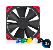 3x Noctua NF-F12 PWM chromax. black. Swap Silent 120 mm Fan – 4 pin PWM Silent For Computer Water Cooling CPU Cooler