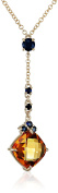 Fiorelli Gold Yellow Gold Citrine and Sapphire Necklace of Length 46cm
